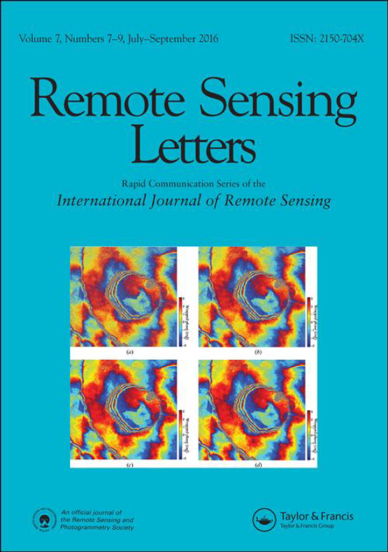 Cover image - Remote Sensing Letters