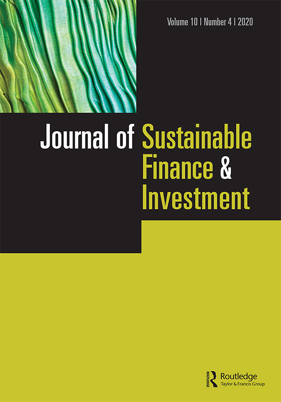 Cover image - Journal of Sustainable Finance & Investment