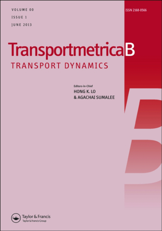 Cover image - Transportmetrica B: Transport Dynamics
