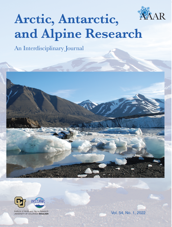 Cover image - Arctic, Antarctic, and Alpine Research