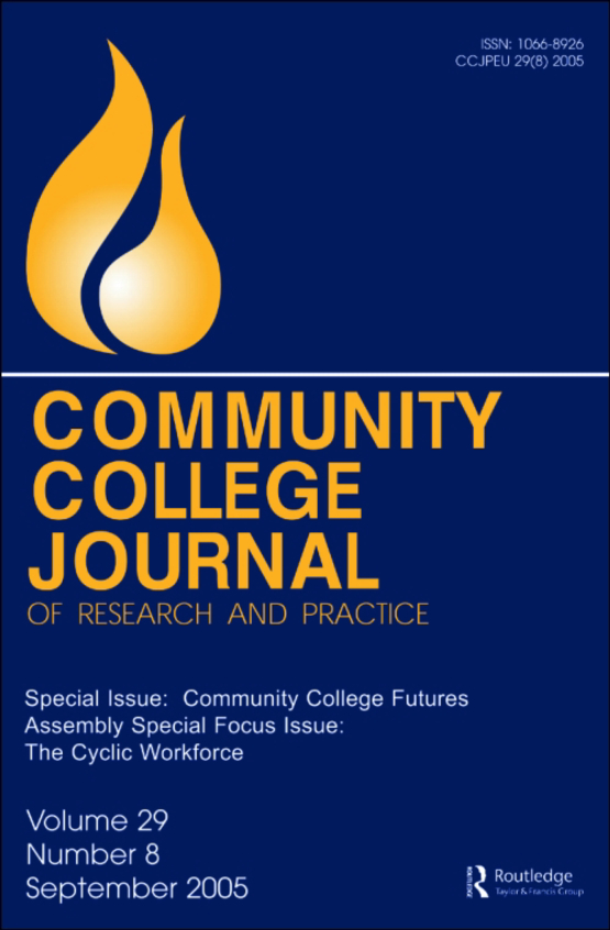 Cover image - Community College Journal of Research and Practice