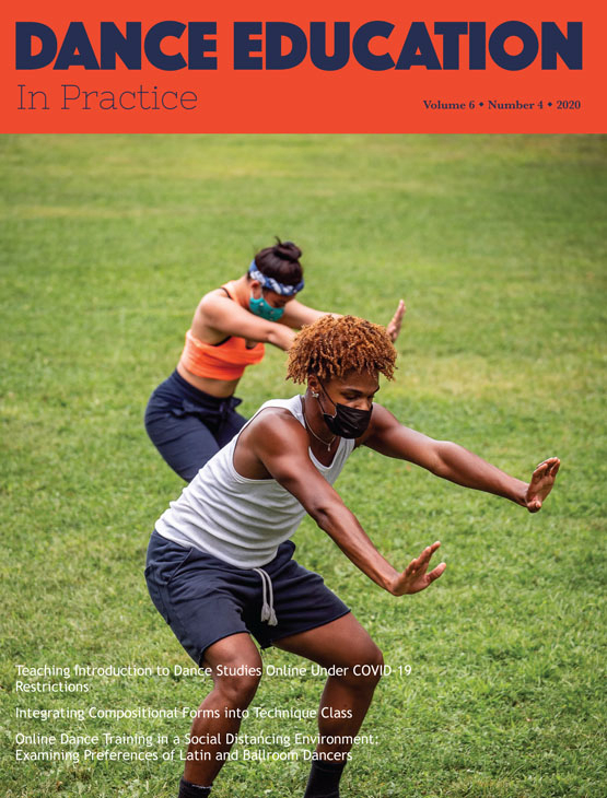 Cover image - Dance Education in Practice