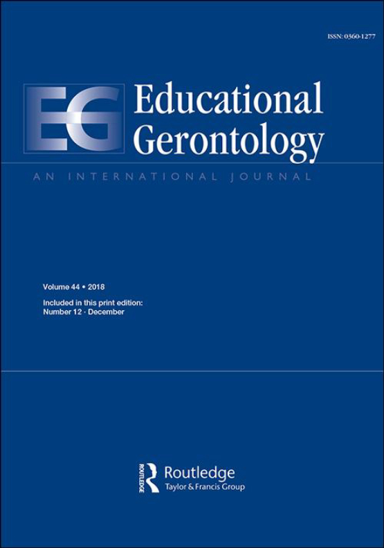 Cover image - Educational Gerontology