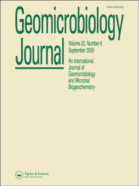 Cover image - Geomicrobiology Journal