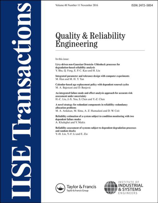 Cover image - IISE Transactions