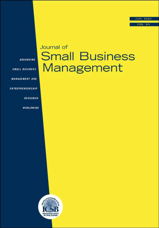 Cover image - Journal of Small Business Management
