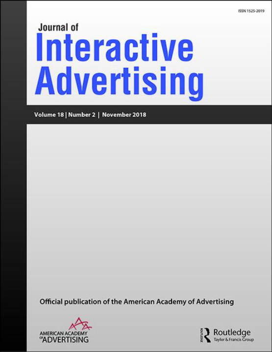 Cover image - Journal of Interactive Advertising