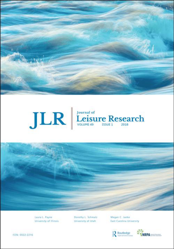 Cover image - Journal of Leisure Research