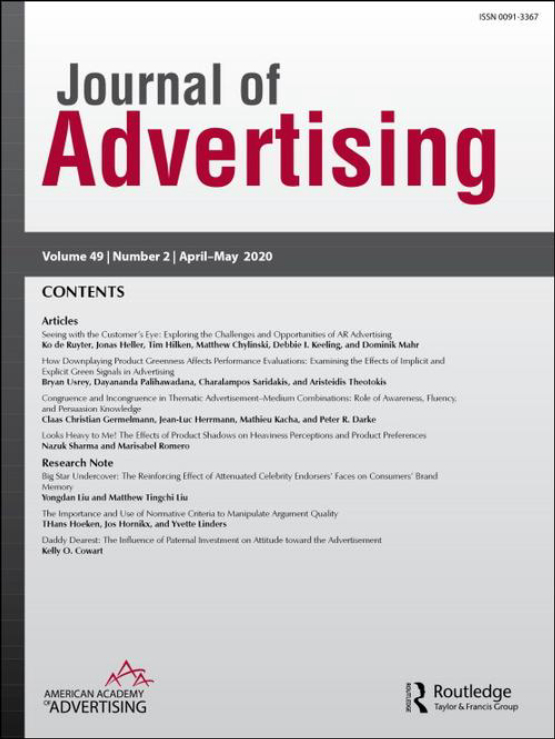 Cover image - Journal of Advertising