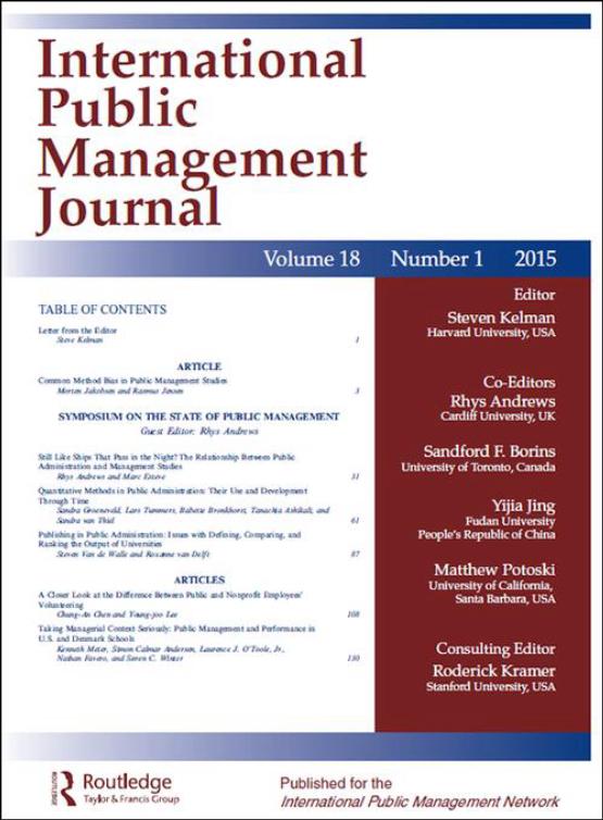 Cover image - International Public Management Journal