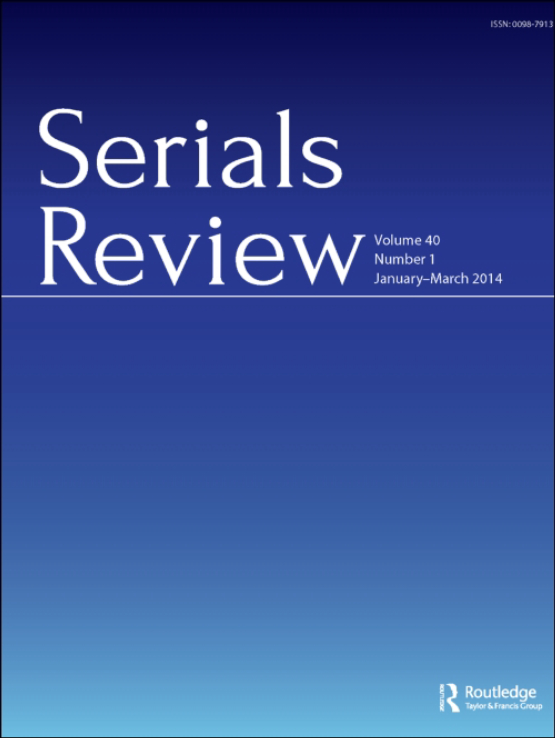 Cover image - Serials Review