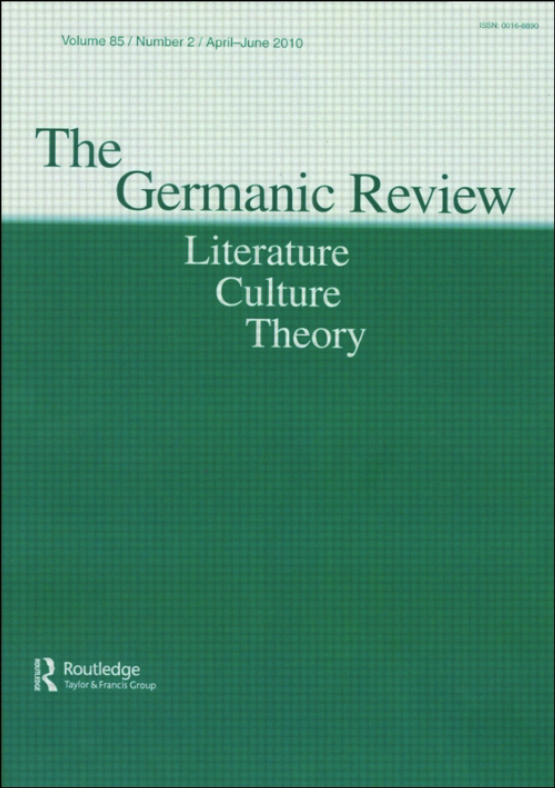 Cover image - The Germanic Review