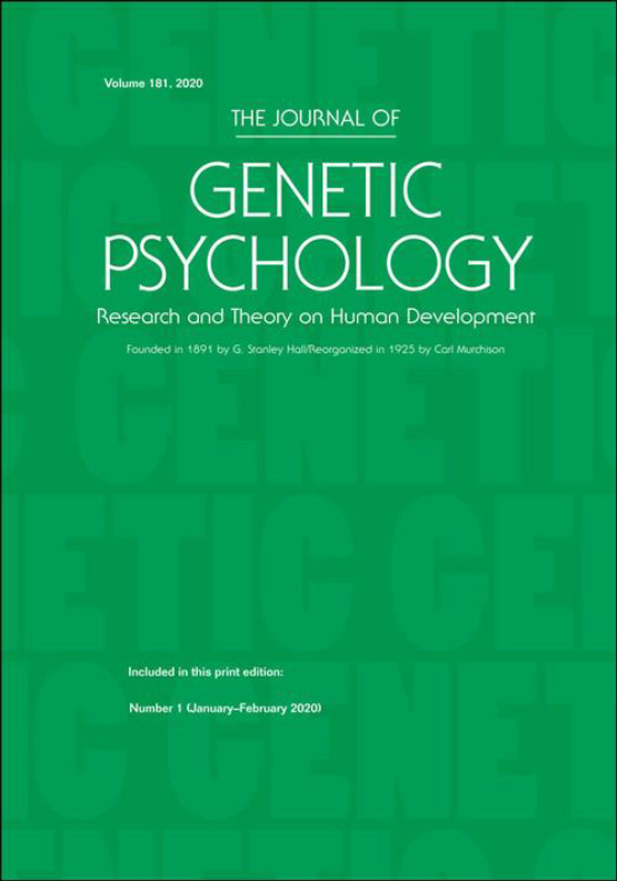 Cover image - The Journal of Genetic Psychology