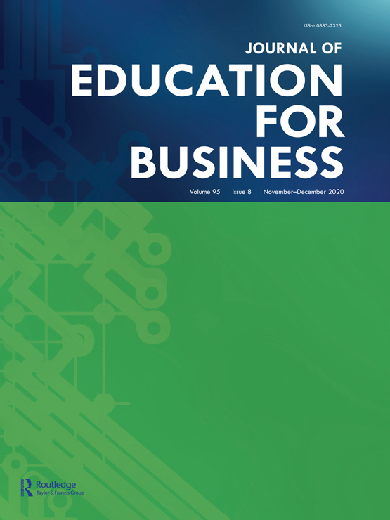 Cover image - Journal of Education for Business