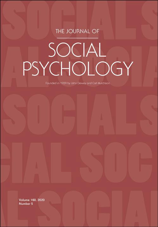 Cover image - The Journal of Social Psychology