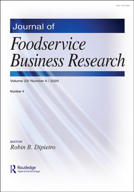 Cover image - Journal of Foodservice Business Research