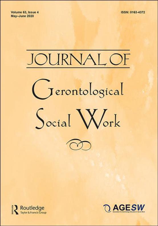 Cover image - Journal of Gerontological Social Work
