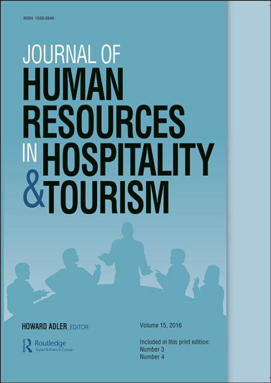 Cover image - Journal of Human Resources in Hospitality & Tourism