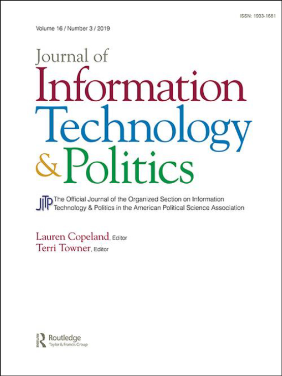 Cover image - Journal of Information Technology & Politics
