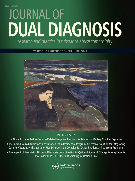 Cover image - Journal of Dual Diagnosis