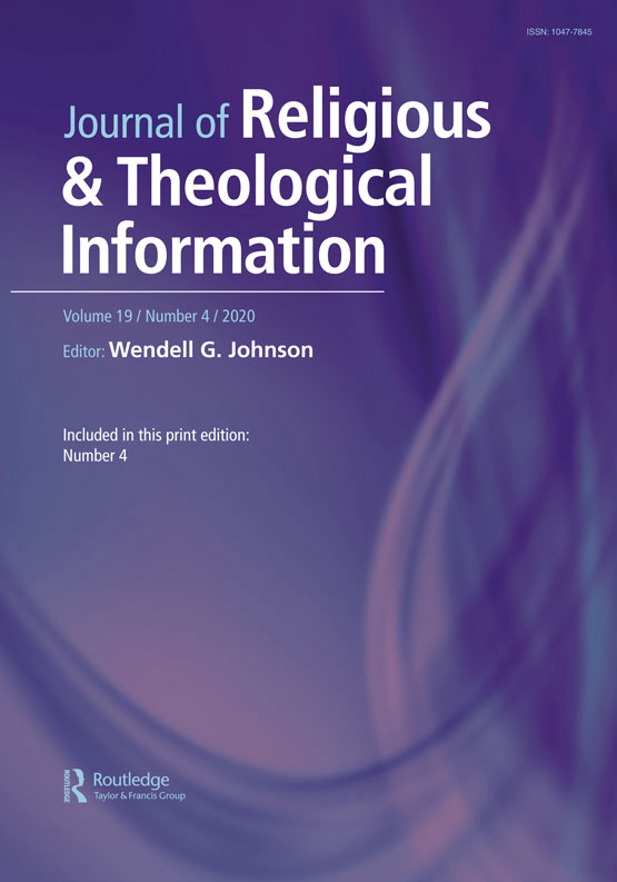 Cover image - Journal of Religious & Theological Information