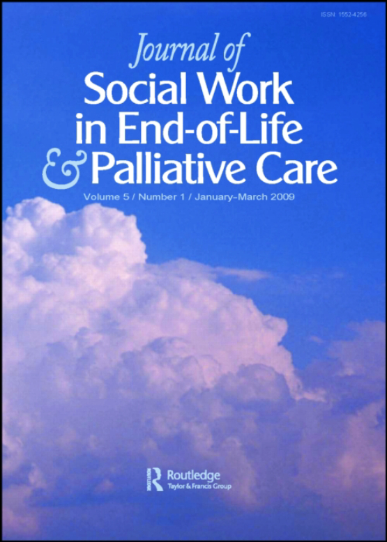 Cover image - Journal of Social Work in End-of-Life & Palliative Care