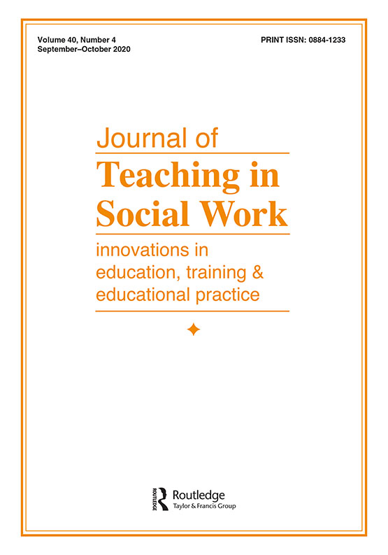 Cover image - Journal of Teaching in Social Work