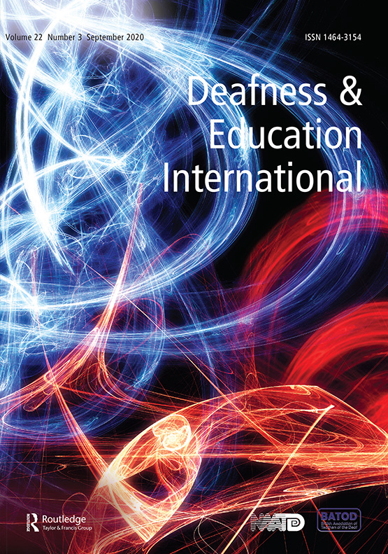 Cover image - Deafness & Education International