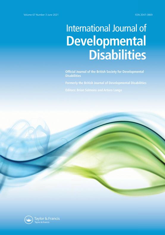 Cover image - International Journal of Developmental Disabilities