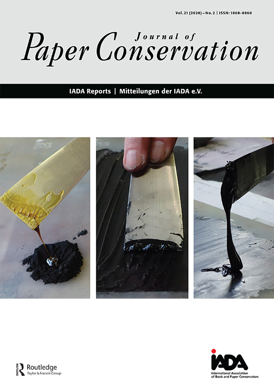 Cover image - Journal of Paper Conservation