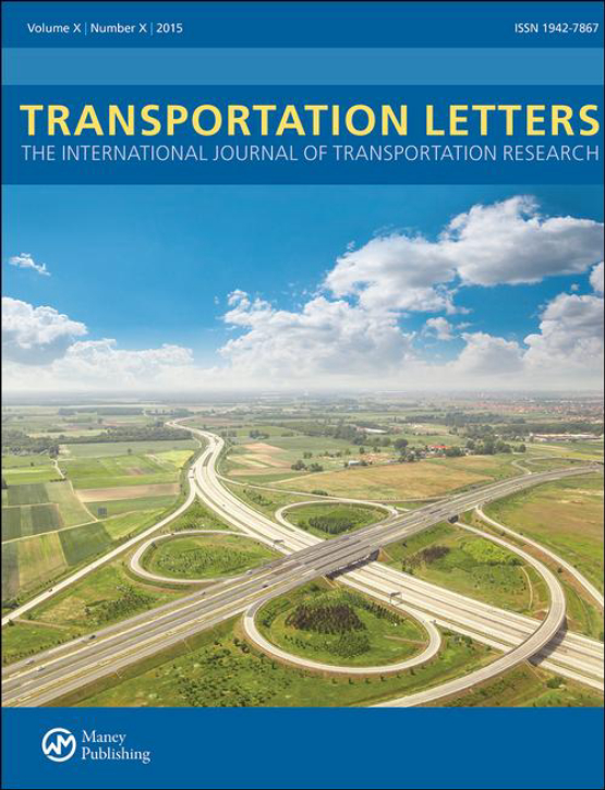 Cover image - Transportation Letters: The International Journal of Transportation Research